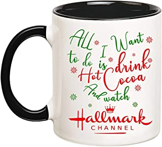 Mr.Fixed - All I Want To Do Is Drink Hot Cocoa And Watch Hallmark Channel, Digital Download, PNG Download, Sublimation Design (Black), 11oz Ceramic Coffee Mug, Unique Gift