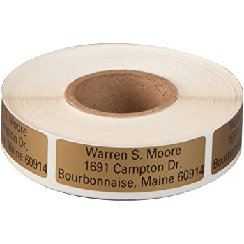 White Personalized Large Print Self-Stick Address Labels 1000