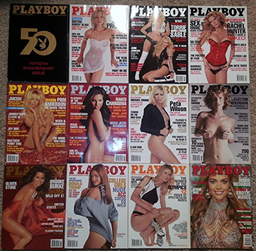 Playboy Magazine 2004 Lot Entire Year 12 Issues January Through December.