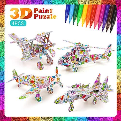 Juego de rompecabezas 3D para niños Niñas, niños Toy Age 5 6 7 8 Juego de rompecabezas para colorear para niños Kits de manualidades para niños de 9-12 años Suministros de arte para niñas de 7-11 años