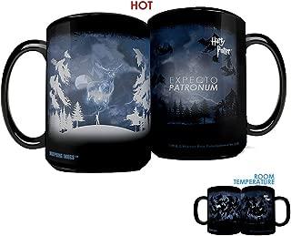 Morphing Mugs Harry Potter Expecto Patronum Spell Heat Reveal Clue Ceramic Coffee Mug - 15 Ounces