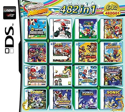 482 en 1 Jeu NDS Cartouche de Jeu DS Jeu Pack Super Combo pour DS NDS NDSL NDSi 3DS 2DS XL Nouveau