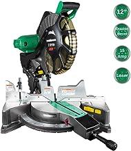 Metabo HPT 12-Inch Compound Miter Saw, Laser Marker System, Double Bevel, 15-Amp Motor,..