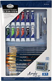 Royal & Langnickel RSET-ART3302 Essentials Clear View Acrylic Painting Set, Deluxe