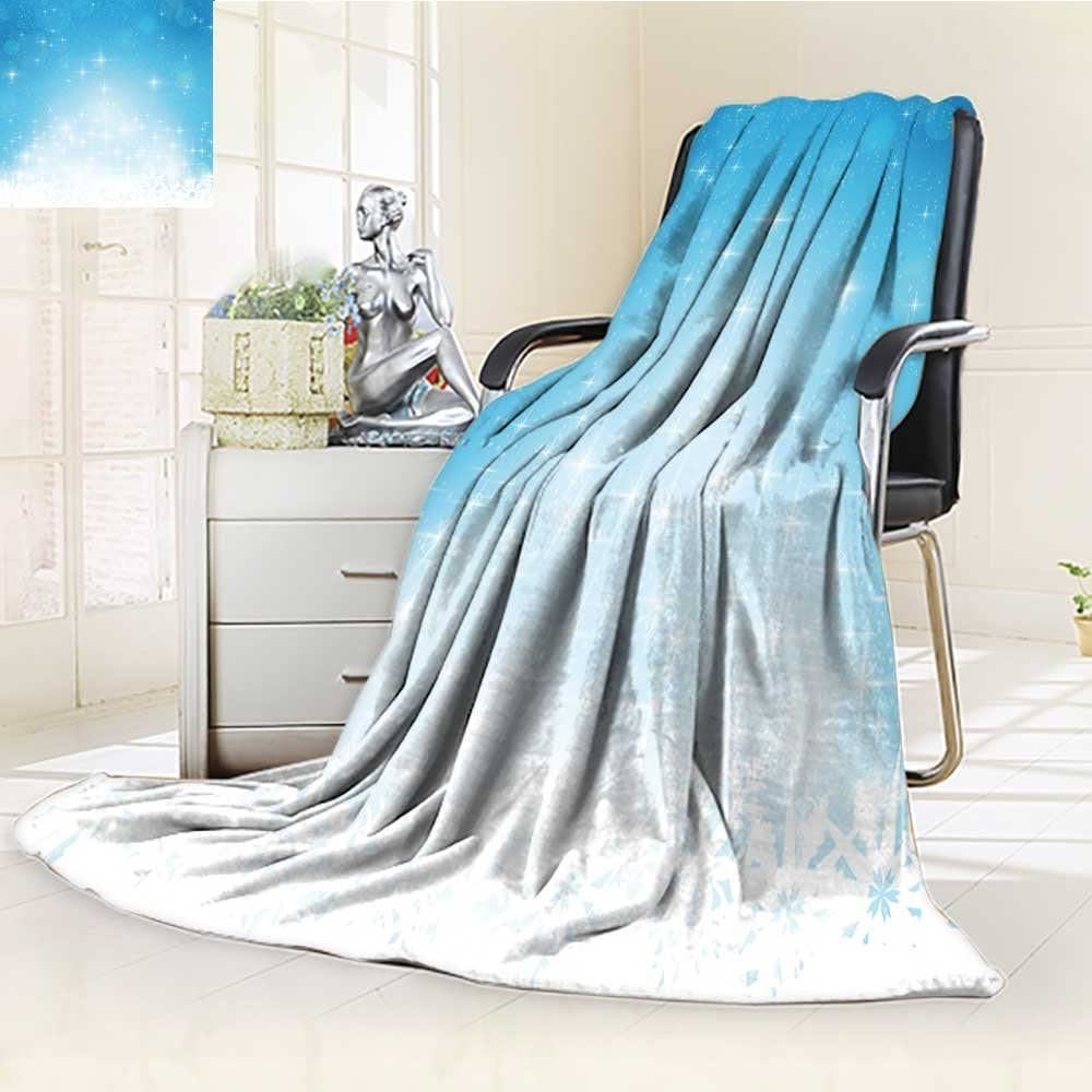 Amazon Com Dollar Blanket Abstract Blue Festive Background With Out Of Focus Light Dots Stars And Snowfla Traveling Hiking Camping Full Queen Tv Cabin Couch Bed Throw 60 X 50 Kitchen Dining