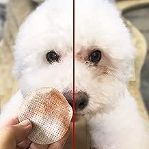 Hemore - 100 toallitas de algodón húmedo para Mascotas con Base hipoalergénica, Uso Multiusos para Eliminar Las Manchas de Piel causadas por Las lágrimas de los Ojos de Las Mascotas Mucus Saliva