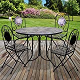 <span class='highlight'>Marko</span> Mosaic Bistro Set 90cm Vigo Outdoor Garden <span class='highlight'>Furniture</span>