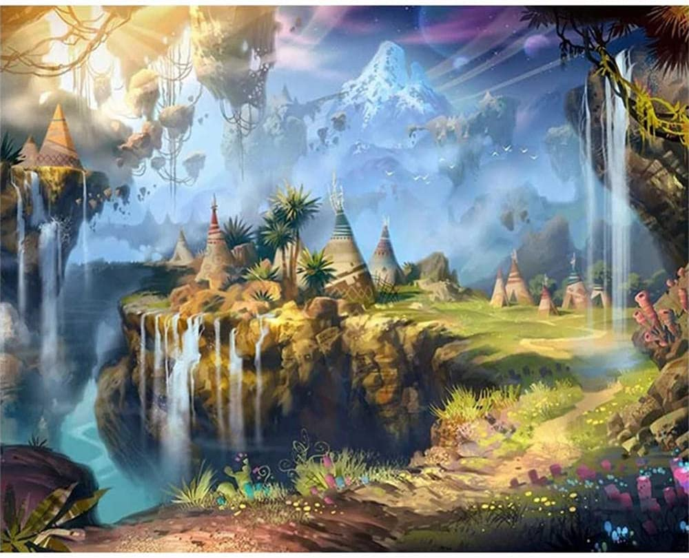 5D Diamond Art Import Painting Courier shipping free Kits Drill DIY Landscape P Full