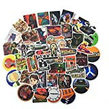 50pcs Back to The Future Fans Stickers for Laptop Water Bottle Luggage Snowboard Bicycle Skateboard Decal for Kids Teens Adult Waterproof Aesthetic Stickers