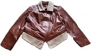 Preston & York Asymmetrical Genuine Lamb Skin Leather with Faux Fur Size L