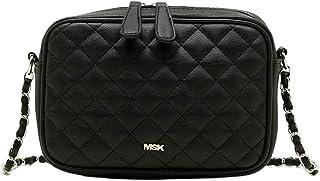 Bolso CACAO Negro   Bolso Pequeño con Cadena - Bolso Bandolera Acolchado Negro perfecto como bolso de Noche - 6x22x16 cm