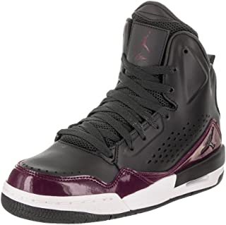 33d3a09b5621 Jordan Nike Kids SC-3 BG Anthracite Anthracite Bordeaux Basketball Shoe 5.5  Kids US