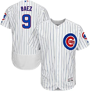 Javier Baez Chicago Cubs Majestic Home Authentic Collection Flex Base Player Jersey-White (L)