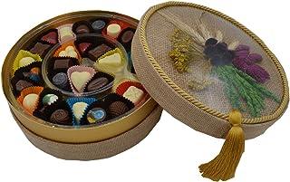 Hediyelik Karma Dolgulu Special Çikolata Hasır Kutu ( 400 gr )