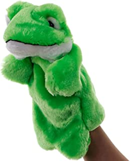 Frog Hand Puppets Plush Animal Toys for Imaginative Pretend Play Stocking Storytelling Green