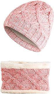 e4df53c76a827 Tukistore Enfants Hiver Bonnet Écharpe Ensemble Filles Garçons Mélange De  Couleurs Bonnet & Cercle Écharpe Cache