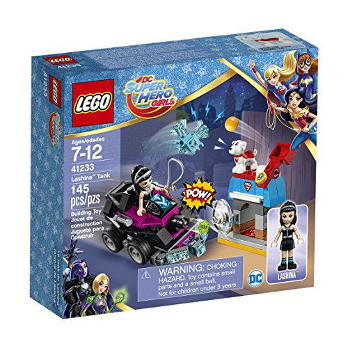 EPHIIONIY Friends Lego DCU: Super Hero Girls Lashina Tank 41233 Superhéroe y Krypto salva el día exclusivo Lego Bundle película paquete de juguete