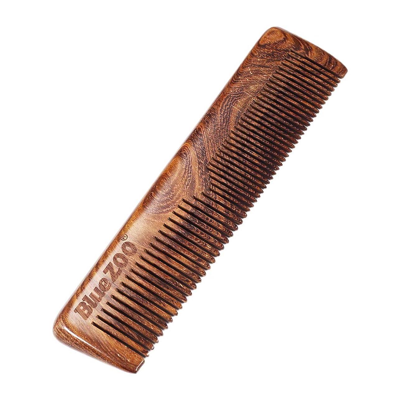 アクチュエータしないでください研磨P Prettyia ポータブル 木製櫛 ウッドコーム 帯電防止 ビアードコーム プレゼント