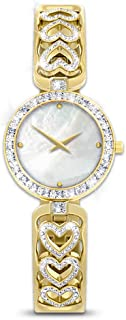 Love Always Diamond Heart Women's Watch by The Bradford Exchange