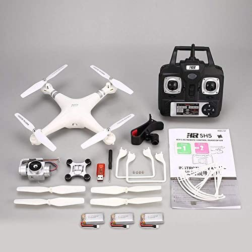 SH5HD 720P Adjustable HD WiFi Camera FPV RC Drone Altitude Hold 3 Batteries Weiß