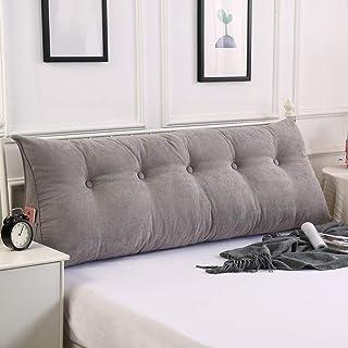 ZHZG Cojines cabecero Triángulo Almohadas de la Cama Suave Paquete Gran sofá Cama Tatami Amortiguador Trasero Respaldo Desmontable y Lavable (Color : Gray, Size : 180cm(70.86 Inches))