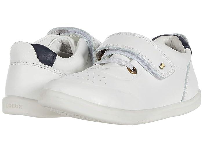 Bobux Kids  I-Walk Ryder (Toddler) (White/Navy) Kids Shoes