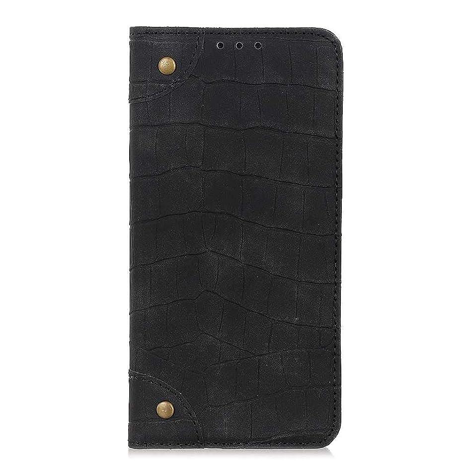 定義するクロス織るZeebox? Sony Xperia L3 手帳型ケース 高級合皮PUレザー 薄型 簡約風 人気カバー 耐汚れ 耐摩擦 耐衝撃 財布型 マグネット式 保護ケース カード収納 付きスタンド機能 カード収納付 Sony Xperia L3 用 Case Cover, 黒