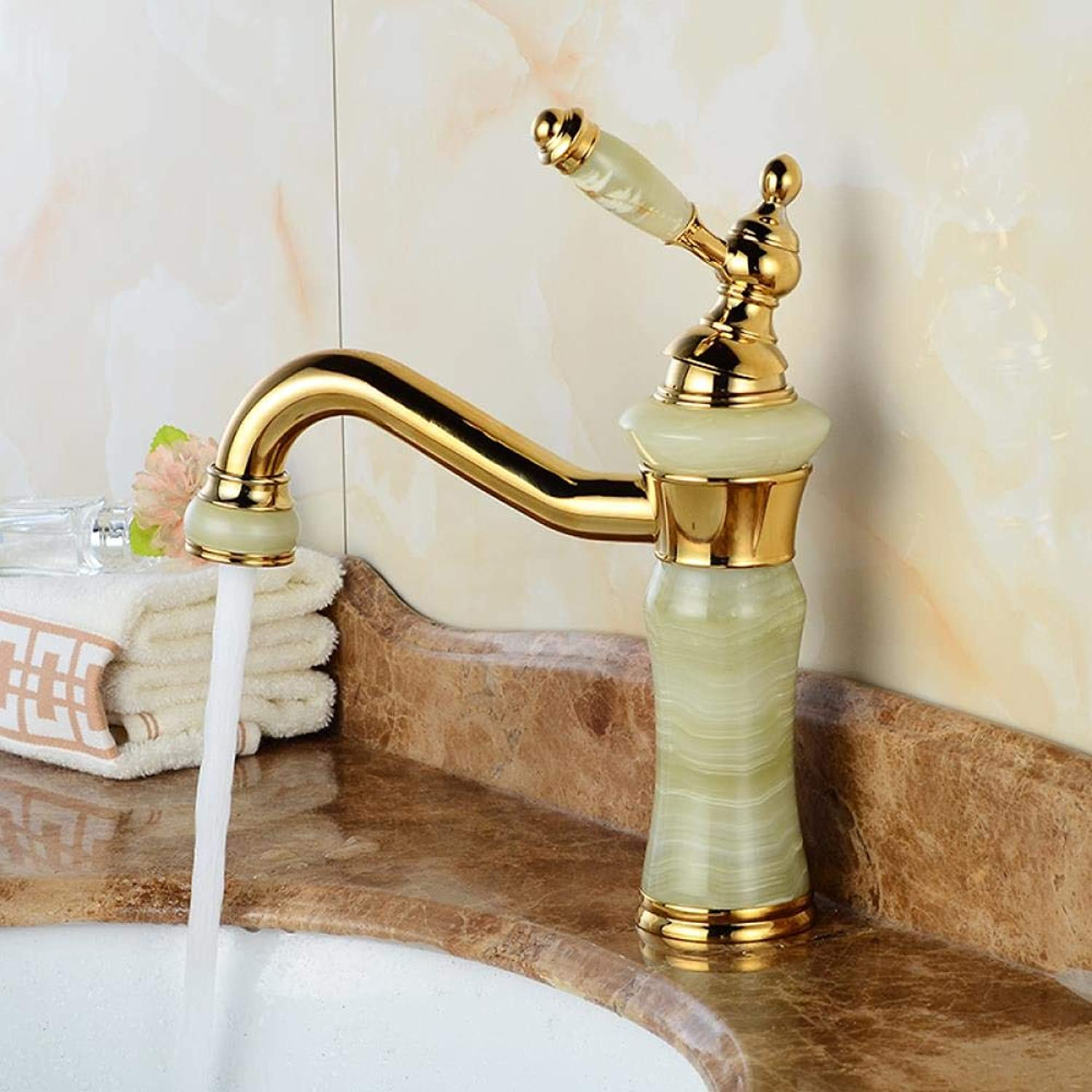 Tap Copper Faucet gold Jade Single-Mix Faucet