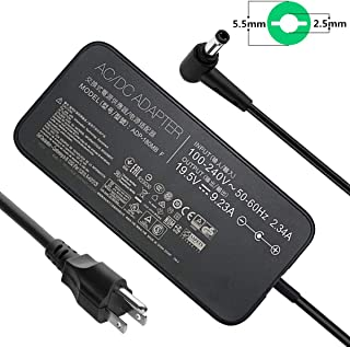 19.5V 9.23A 180W AC Adapter ADP-180MB F FA180PM111 Laptop Charger Compatible Asus ROG G75 G75VW G75VX GL502VT G750JW G-Series Gaming Laptop Power Supply Adapter (Slim)