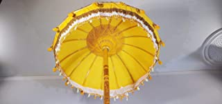 Yellow Bali Umbrella- Garden Umbrella, Wedding Umbrella, Hindu Umbrella, Indonesian Umbrella, Festival Umbrella, Pool Umbrella, Bollywood, Festive and Decorative Umbrella,