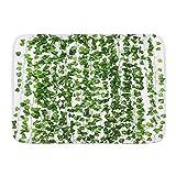 QIUTIANXIU Tapis de Bain Antidérapant Absorbant,Guirlande de Lierre Artificielle Fausses Plantes Vertes pour la fête de Mariage Jardin Verdure extérieure décoration Murale,Tapis de Salle de Bains