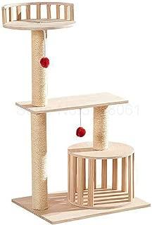 Solid Wood cat Climbing Frame cat Litter Scratch Board sisal Grab Column Jumping Platform pet House Four Seasons Supplies