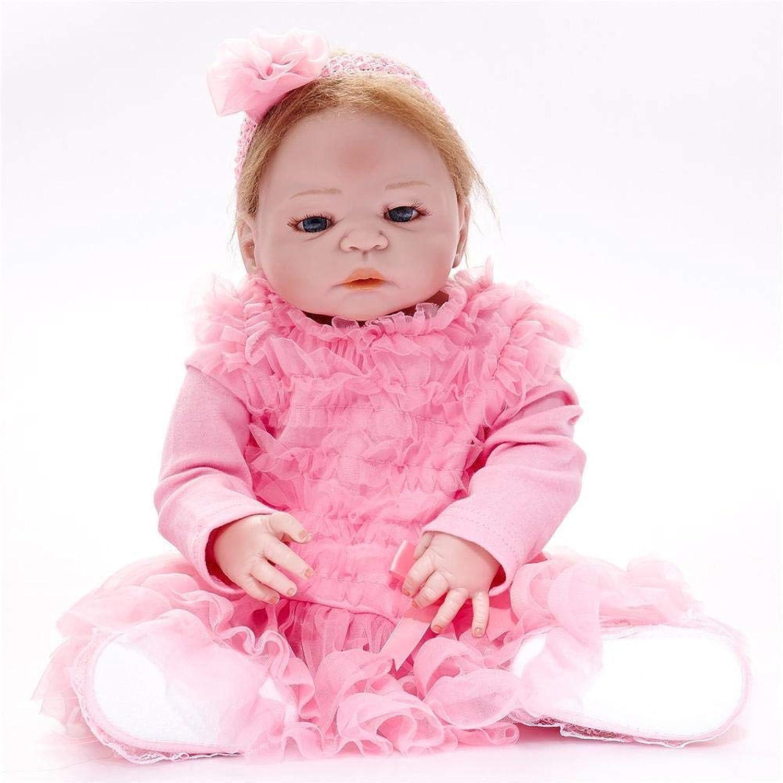 Hongge Volle Silikon Vinyl Reborn Babypuppe realistische weiblichen Babys Puppen lebensecht Prinzessin Kids Toy Kinder Geburtstagsgeschenk 58cm B07HJ2VQTB Die Farbe ist sehr auffällig  | Online einkaufen