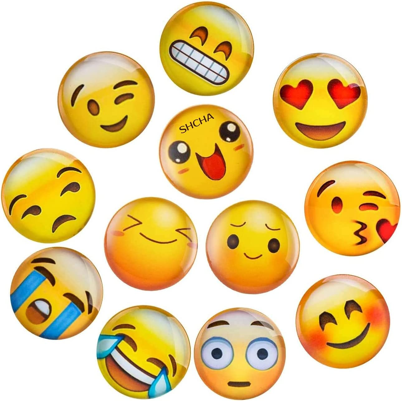 SHCHA Cute Discount mail order Refrigerator Magnets 12 Pack Smile 3D Excellence Glass Positive