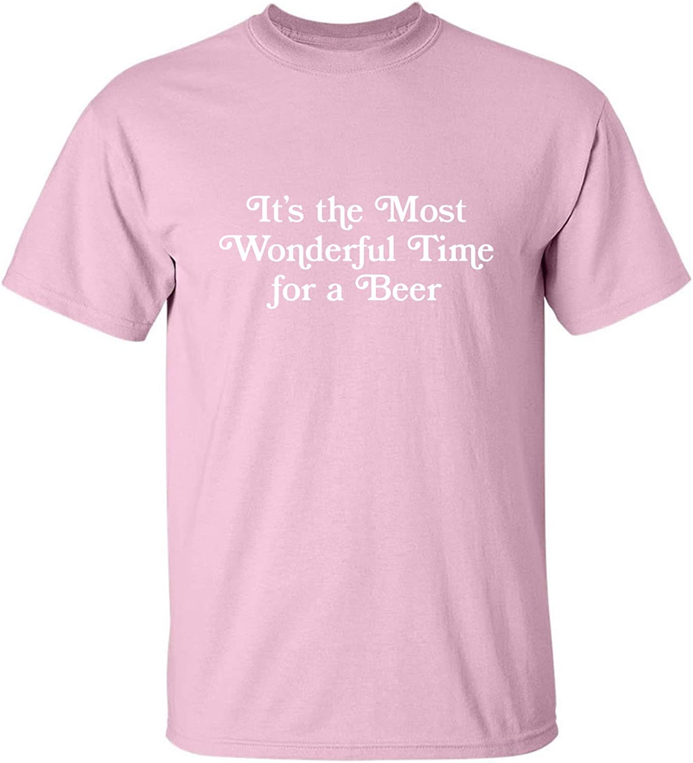 It's The Most Wonderful Time Adult T-Shirt in Pink - XXXX-Large