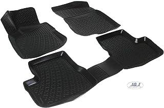J/&J AUTOMOTIVE 3D Exclusive Tapis DE Sol en Caoutchouc Compatible avec Renault Megane IV 2016 pres 4pcs