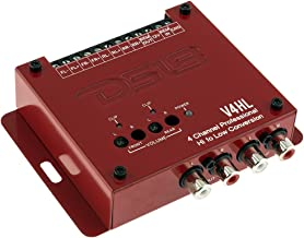DS18 V4HL 4-Channel Line Out Converter,High-Level Speaker Signal to Low-Level RCA Adapter with Built-in Audio Sensing Technology; Produces Remote Trigger Output to Control Your Aftermarket Equipment
