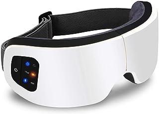 アイウォーマー ホットアイマスク フェイススチーマー 目元美顔器 温度調節 音楽 USB 充電式 180°折りたたみ プレゼントに最適 日本語説明書付き 1年メーカ保障 正規品(白色)