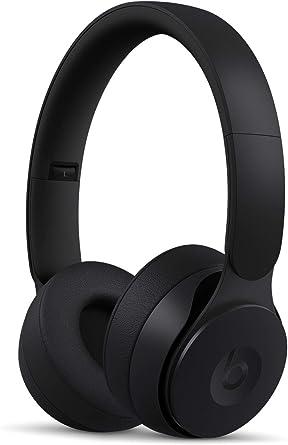 Beats by Dr. Dre Solo Pro draadloze on-ear-koptelefoon met ruisonderdrukking, Apple H1-koptelefoonchip, Class 1 Bluetooth, actieve ruisonderdrukking, transparantiemodus, 22 uur luisteren, Zwart, Eén Maat