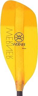 Werner Sherpa Fiberglass Bent Shaft Whitewater Kayak Paddle-200cm-Amber