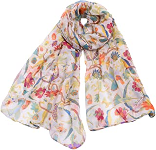 Animal Hummingbird Sun Flower Print Scarfs Women Long Wrap Shawl Scarves By Clest F&H