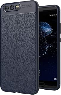JDYS AYSMG For Huawei P10 Litchi Texture TPU Protective Back Cover Case (Black) (Color : Navy Blue)