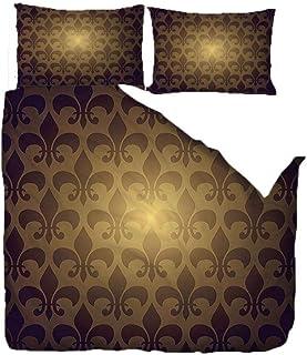 CMYKYUH Housse de Couette 220 x 240 cm Fleurs Jaunes Polyester imprimé Parure de lit avec Fermeture à glissière Housse de ...