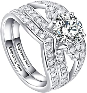 2ps Promise Ring Infinity Simulated Birthstone Anniversary Wedding Band Bridal Sets 925 Sterling Jewellery