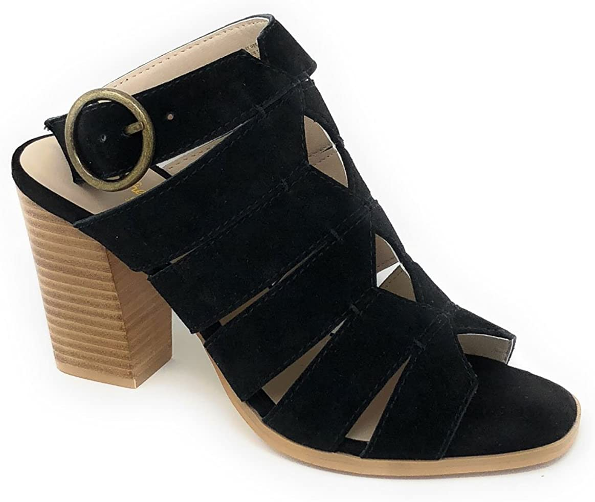Seychelles Women's Completely Engaged Black Strappy Heeled Sandals SZ