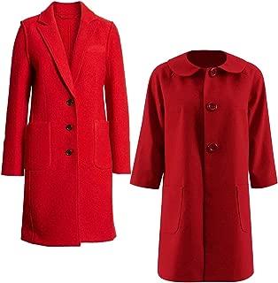Aus Eshop Chilling Adventures of Sabrina Kiernan Shipka Costume Sabrina Spellman Red Wool Coat