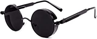 Retro Gothic Polarized Sunglasses, Steampunk Round Shape Style for Men and Women, UV Protection