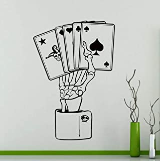 weilaike Poker Wall Sticker Stickers Home Art Interior Decoration Any Room Mural Waterproof Demolition Sticker 58 X 85 cm
