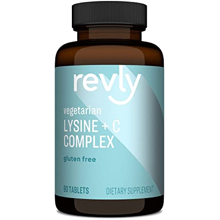 Amazon Brand - Revly Lysine + C Complex, 1000 mg L-Lysine and 66 mg Vitamin C per Serving (2 Tablets), Supports Immune Health, 90 Tablets, Gluten Free