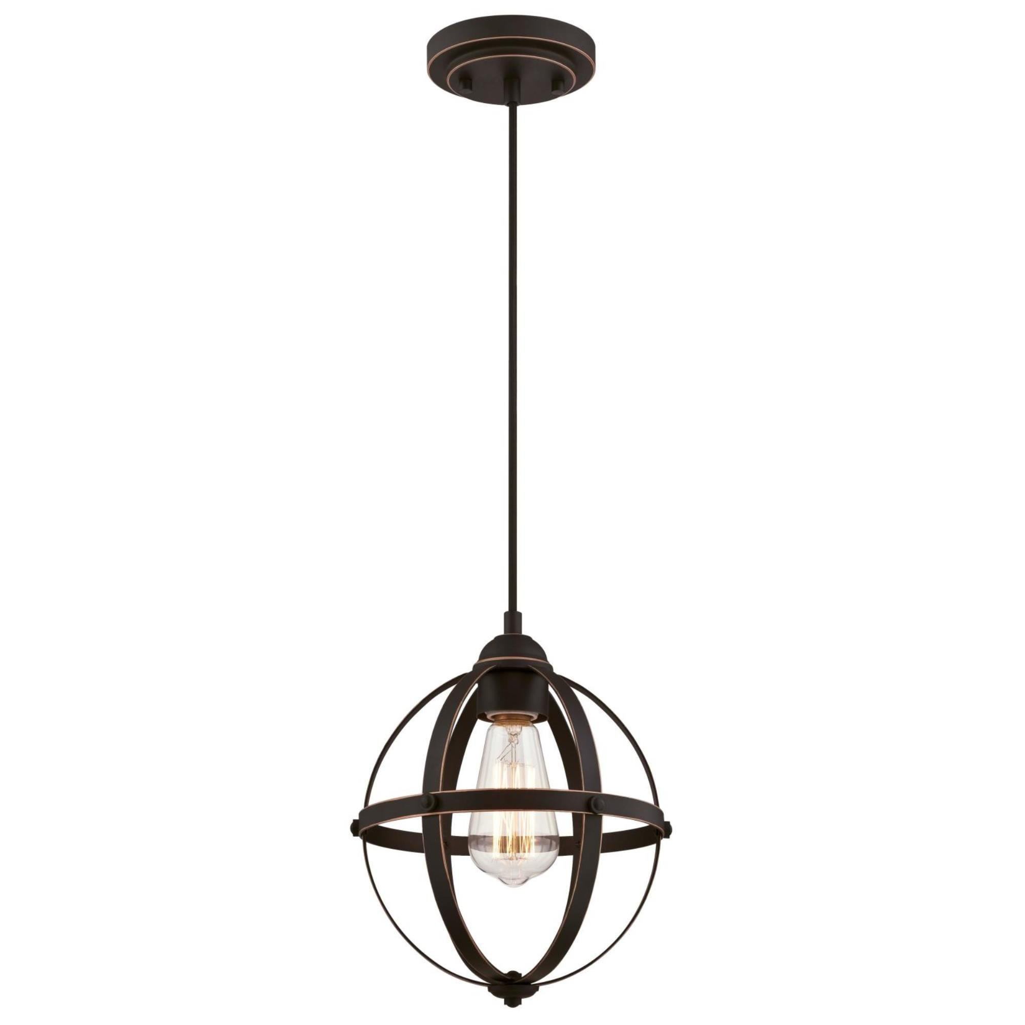 Amazon Com Westinghouse Lighting 6361900 Stella Mira One Light Mini Oil Rubbed Bronze Finish With Highlights Indoor Pendant Home Improvement
